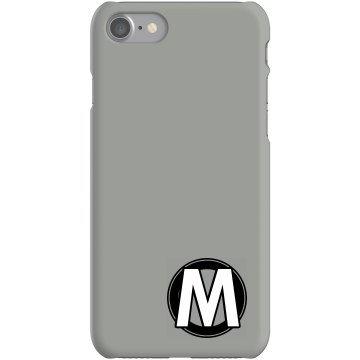 Custom M Monogrammed Case Plastic iPhone 5 Case White