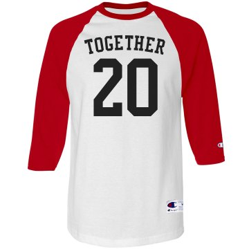 Together Baseball Tee Unisex Champion Raglan Baseball Tee