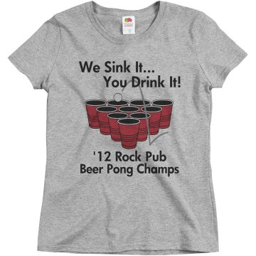 We Sink It   Beer Champs  Misses Relaxed Fit Basic Gildan Ultra Cotton Tee