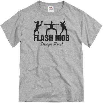 Flash Mob Design Unisex Basic Gildan Heavy Cotton Crew Neck Tee