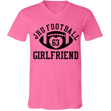 Football Girlfriend Junior Fit Bella 1x1 Rib Ringer Tee