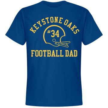 Football Dad Unisex Gildan Heavy Cotton Crew Neck Tee
