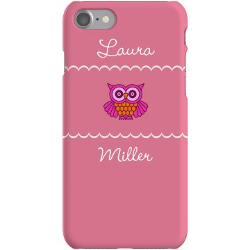 Custom Owl Lover iPhone Plastic iPhone 5 Case White 