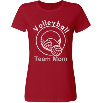 Volleyball Team Mom Misses Relaxed Fit Gildan Ultra Cotton Tee