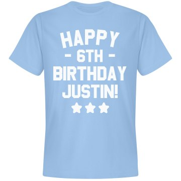 Happy 6th Birthday Brice Unisex Basic Gildan Heavy Cotton Crew Neck Tee