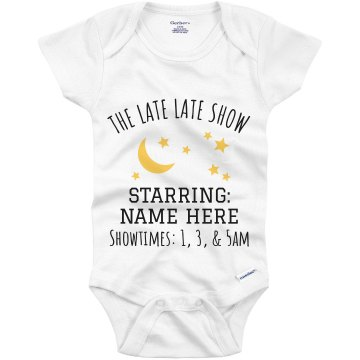 The Late Show Baby  Infant Gerber Onesies