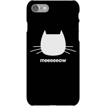 Meow Cat Lover Case Plastic iPhone 5 Case White