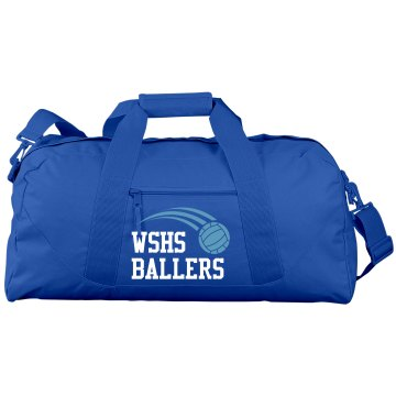 Volley Ballers Bag Port & Company Large Square Duffel Bag