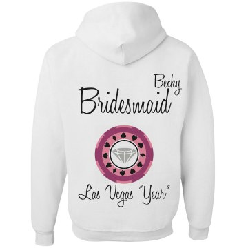 Bridesmaid Zip Hoodie Unisex Gildan Heavy Blend Full Zip Hoodie