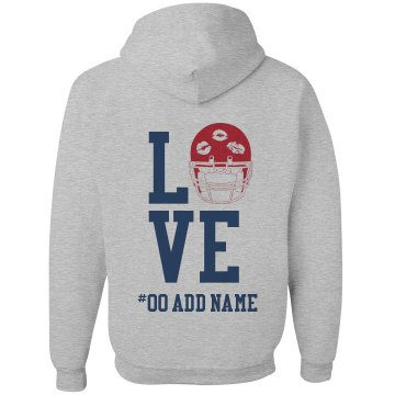 Love Football Zip Unisex Gildan Heavy Blend Full Zip Hoodie