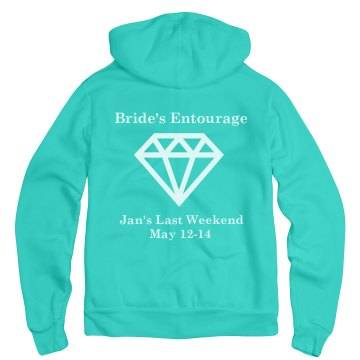 Brides Entourage with Bck Unisex Gildan Heavy Blend Full Zip Hoodie