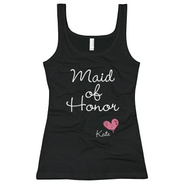 Maid Of Honor Junior Fit Bella Sheer Longer Length Rib Tank Top