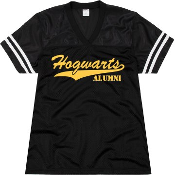 Hogwarts w/ Back Number Junior Fit Augusta Replica Football Jersey
