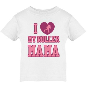 Roller Derby Mama Tee Infant Bella Baby Long Sleeve Lap Shoulder Tee