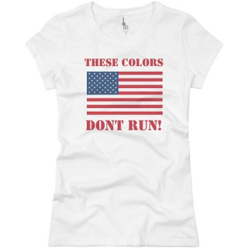 These Colors Don't Run Junior Fit Basic Bella Favorite Tee