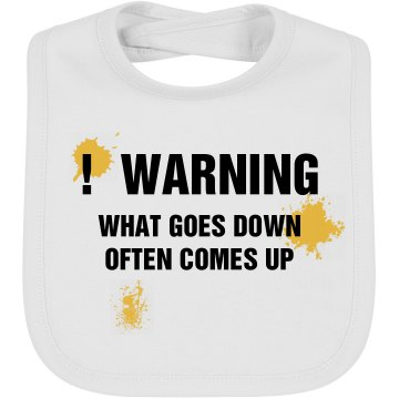 Warning Bib Infant Bella Baby 1x1 Rib Bib