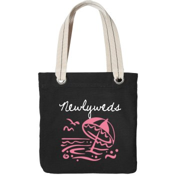 Newlywed Beach Bag Port Authority Color Canvas Tote