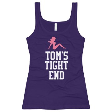 Tom's Tight End Junior Fit Bella Longer Length 1x1 Rib Tank Top