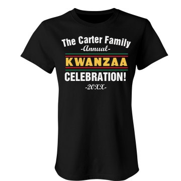 Kwanzaa Celebration Tee Misses Relaxed Fit Port Authority 3&#x2F;4 Sleeve Shirt