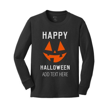 Happy Halloween Youth Youth Gildan Ultra Cotton Long Sleeve Tee
