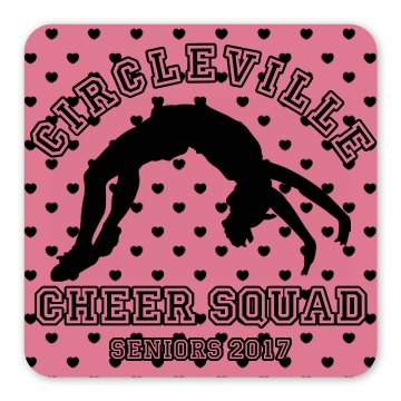 Cheer Squad Magnet Square Magnet