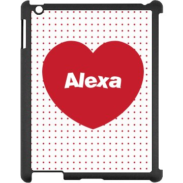 Custom Heart iPad Case Black iPad Snap-on Case