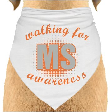 Walking For MS Bandana Dog Bandana