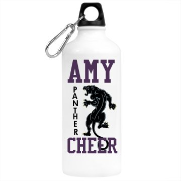 Panther Cheer Bottle Aluminum Water Bottle