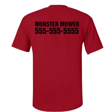 Monster Mower W/ Back Unisex Gildan Heavy Cotton Crew Neck Tee
