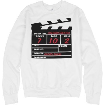 Action! Crewneck Sweater Unisex Hanes Crew Neck Sweatshirt