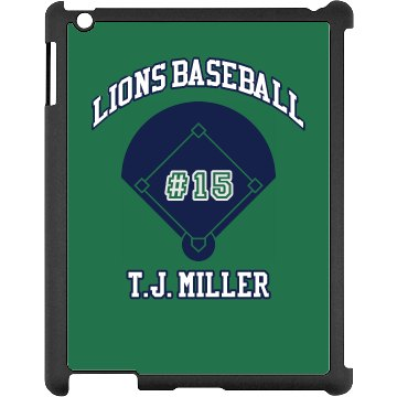 Baseball iPad Case Black iPad Snap-on Case