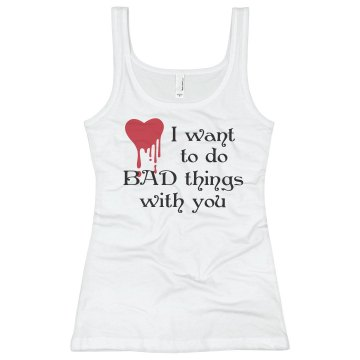 Bad Things Junior Fit Basic Bella 2x1 Rib Tank Top