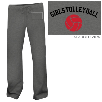 Girls Volleyball Junior Fit Bella Straight Leg Fleece Sweatpant