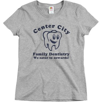 Dentistry Business Promo Junior Fit Bella 1x1 Rib Ringer Tee