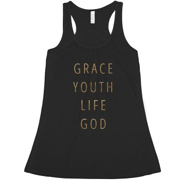 Church Youth Group Junior Fit Bella 1x1 Rib Ringer Tee