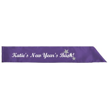 Katie's New Year Bash Adult Satin Party Sash