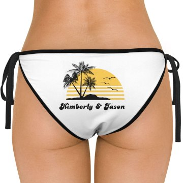 Honeymoon Couple's Sunset American Apparel Nylon Tricot Side-Tie Bikini Swimsuit Bottom