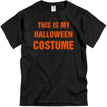 This Is My Costume Mens Unisex Gildan Heavy Cotton Crew Neck Tee