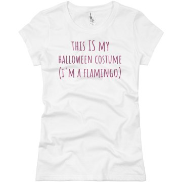 Halloween Flamingo Junior Fit Bella Sheer Longer Length Rib Tee