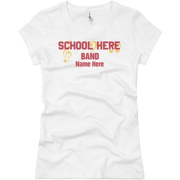 North HS Band Camp Junior Fit Basic Bella Favorite Tee