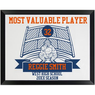MVP Baseball Pitcher Round Wood Plaque
