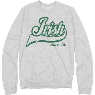 Born Irish Distressed Unisex Hanes Crew Neck Sweatshirt