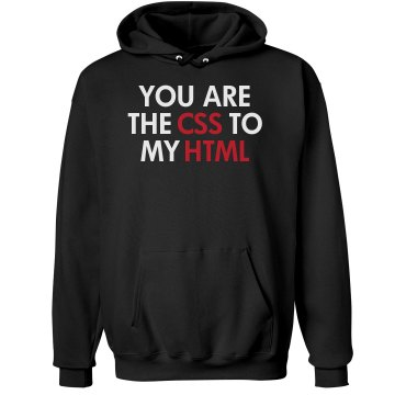 The CSS To My HTML Unisex Hanes Ultimate Cotton Heavyweight Hoodie