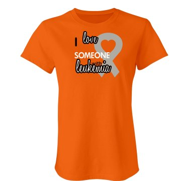 Love Someone Junior Fit Bella Crewneck Jersey Tee