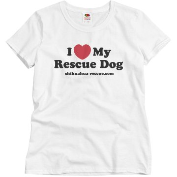 I Love My Rescue Dog Misses Relaxed Fit Basic Gildan Ultra Cotton Tee
