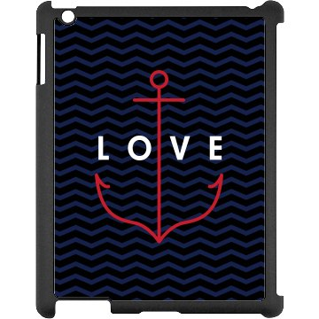 Anchor Love iPad Case Black iPad Snap-on Case