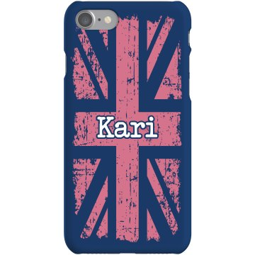 UK Pink iPhone Case Rubber iPhone 4 & 4S Case White