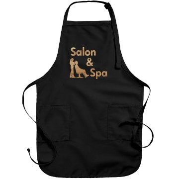 Salon Rhinestone Apron Port Authority Adjustable Full Length Apron