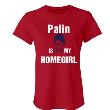 Palin's My Homegirl Junior Fit Bella Crewneck Jersey Tee
