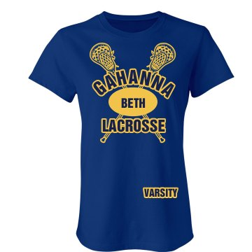 Gahanna Lacrosse Varsity Junior Fit Bella Crewneck Jersey Tee